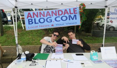 The Annandale Blog booth at the Taste of Annandale.